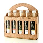 Organic Herbs Infused Greek Extra Virgin Olive Oil, 5 flavors - Basil, Lemon, Garlic, Red Pepper, Oregano in French… 17 ✅ ULTRA-PREMIUM QUALITY - Ultra Premium Extra Vigin finishing olive oil in designer French Fidji glass bottles. Product of Crete, Greece ✅ ORGANICALLY INFUSED - Infused with Fresh Organic Herbs and NOT with essential oils or any artificial flavors. No Solvents, No Pesticides , No Herbicides used in the manufacturing process ✅ UNMATCHED FLAVOR - Rich natural flavor and an increasingly authentic taste and aftertaste, characteristics sustainable over time