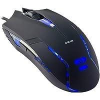 Mouse Gamer com LED 6 Botões Óptico USB Preto Cobra II E-blue