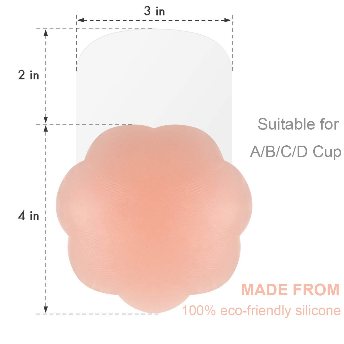 Adhesive Bra Backless /& Strapless Breast Lift For Women Silicone Pasties Reusable Breast Petals Invisible Nipple Cover