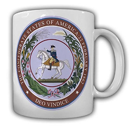 The Confederate States coat of arms seal symbol badge - Coffee Cup ()