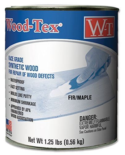 Wood-Tex 34021018 Wood Filler Adhesive - Pint, (Maple Wood Putty)