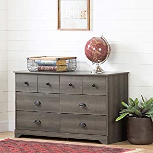 South Shore Volken 6-Drawer Double Dresser-Gray Maple