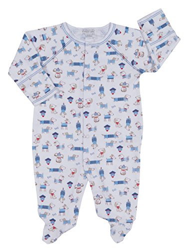 Kissy Kissy Baby-Boys Infant Cozy Pups Print Footie-Multicolored-9 Months ()