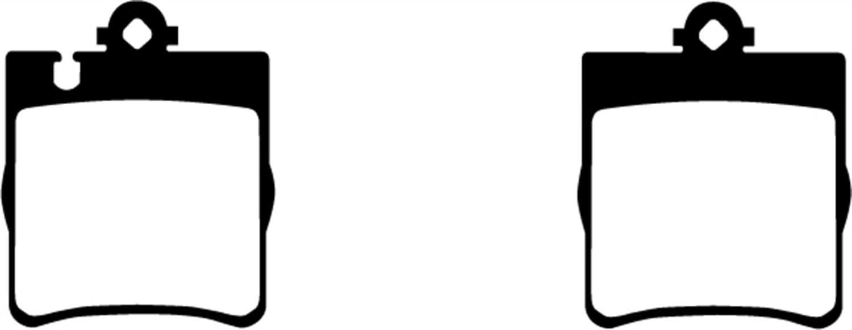 EBC Brakes UD876 Ultimax OEM Replacement Rear Brake Pad