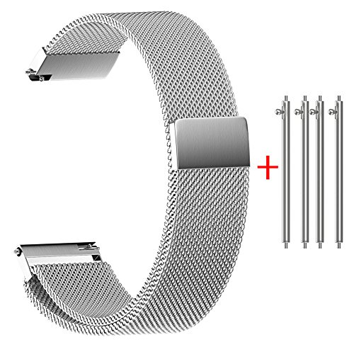 Quick Release Watch Band,Hotkey U8 Universal Milanese Magnet