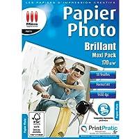 Micro application 5241 Maxi Pack Papier Photo Brillant A4 170 g/m² 50 feuilles