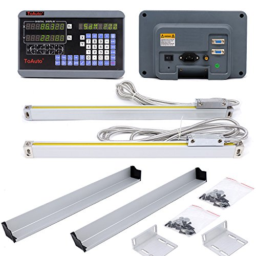 2 Axis Precision Linear Scale Digital Readout DRO for Milling Lathe Machine (350mm + 700mm)