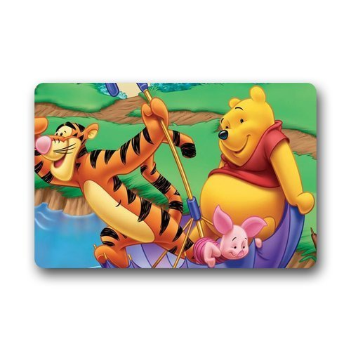 Roman's Doormat Personalize Decor Carpets ? Door Mats Tigger and Winnie The Pooh Rectangle Entryways Doormats Area Rugs Entryway Mats Non-slip Rubber Backing 23.6in by 15.7 in