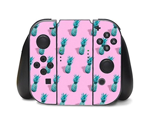 Pineapple Cute Pattern Retro Nintendo Switch Controller Vinyl Decal Sticker Skin by Moonlight Printing