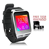 Indigi 2-in-1 Smartwatch Phone(Factory Unlocked) Mp3+Bluetooth+Pedometer- Free 32gb SD