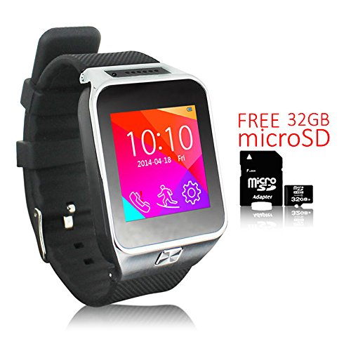 (Indigi 2-in-1 Smartwatch Phone(Factory Unlocked) Mp3+Bluetooth+Pedometer- Free 32gb SD)