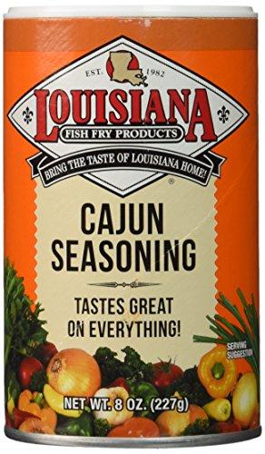 Louisiana Fish Fry Products Cajun Seasoning, 8-Ounce Shakers (Pack of 12) by La Fish Fry