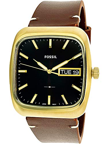 Fossil Gold Mens Bracelets - Fossil Men's Rutherford FS5332 Gold/Brown One Size