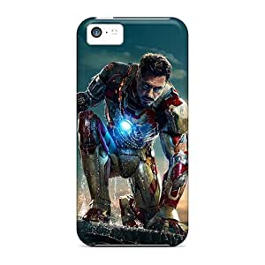 Anti-Scratch Hard Phone Cover For Iphone 5c (WGH19065YvvF) Allow Personal Design Beautiful Iron Man 3 New Pattern