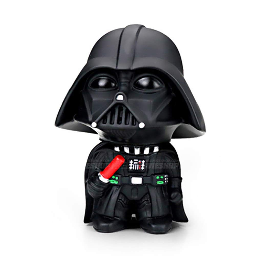 DeemoShop Car Ornament Cute Star Wars Action Figure Doll Automobiles Interior Black Darth Vader White Stormtroopers Model Decoration Gifts