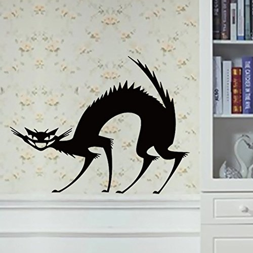 OTTATAT Wall Stickers for Bedroom Women 2019,Happy Halloween Home Household Room Mural Decor Decal Removable New Easy to Peel Birthday Holiday Gift for Lover Free Deliver Clearance]()