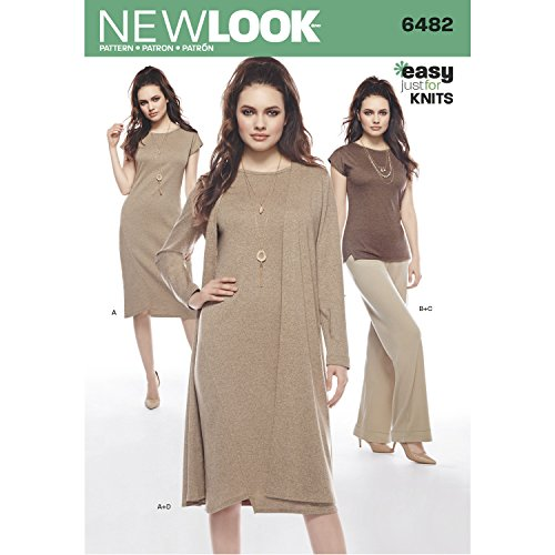 - New Look Pattern 6482 Misses' Knit Dress, Tunic, Pants and Duster