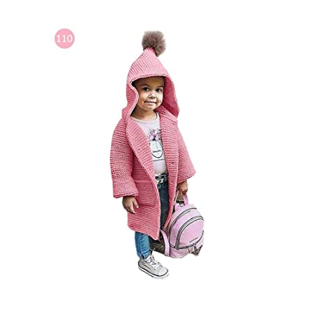 be711283a baby girls knitted warm sweater coat autumn winter outerwear ...