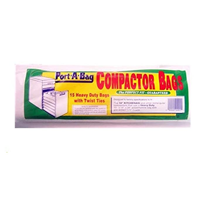 "Port-A-Bag 18"" TRASH COMPACTOR BAGS 15-pk - K12 (Original Version)"