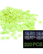 Glow in The Dark Stars, Home-Mart 200PCS Moon & Star Night Light Glow in The Dark Wall Decal Ceiling Sticker Decor