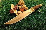 built D2 STEEL KNIFE STAG ANTLER HAND MADE BY ARONN BUILT AUSTRALIA