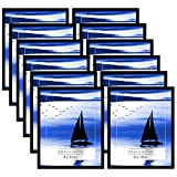 Americanflat 12 Pack - 8x10 Black Frames with Glass Front