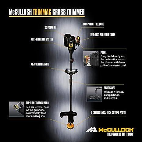 McCulloch 00096-72.562.01 TRIMMAC Desbrozadora con un ancho de ...