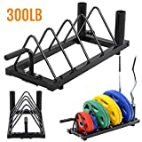 Best Olympic Bumper Plates - Yaheetech Horizontal Barbell Bumper Plate Rack Holder Olympic Review