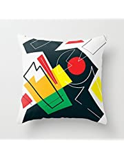 SPXUBZ Art Motif Classic Pattern Pillow Cover Decorative Home Decor Nice Gift Square Indoor/Outdoor Pillowcase Size: 20x20 Inch(Two Sides)