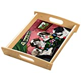 Home of Shih Tzu's 4 Dogs Playing Poker Wood Serving Tray