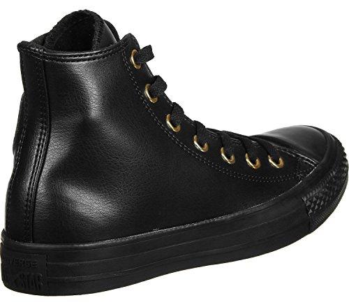 Converse All Star Hi W Calzado negro oro