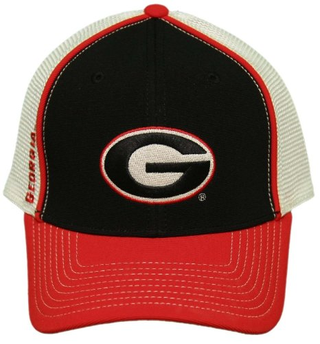 NEW!! University of Georgia Bulldogs Velcro Back One-Fit Cap/Embroidered (Bulldogs One Fit Cap)