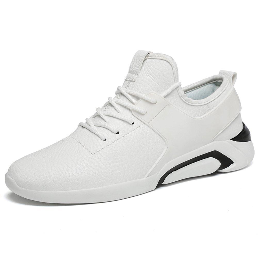 Zapatillas de Deporte atléticas para Hombre El Estilo Informal británico está de Moda con Zapatillas de Deporte livianas, Altas y Bajas 40 EU|Negro