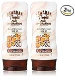 Hawaiian Tropic Sunscreen Silk Hydration Moisturizing Broad Spectrum Sun Care Sunscreen Lotion - SPF 30, 6 Ounce (Pack of 2)
