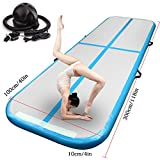 Inflatable Gymnastics Tumbling Mat Air Track Floor Mats with Electric Air Pump for Home Use/Training/Cheerleading/Beach/Park and Water