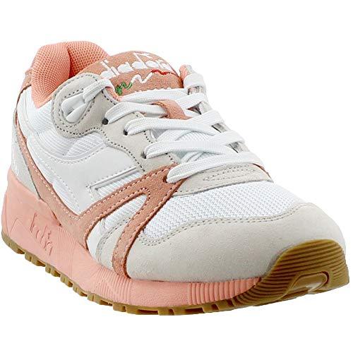 Diadora Unisex N9000 III White/Peach Pink 14.5 Women / 13 Men M US Medium