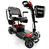 Pride Jazzy ZERO TURN 4-Wheel Travel Mobility Scooters, Get the Best of Both Worlds - 4 Wheel...