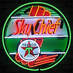 Neonetics 5TXSKY Texaco Sky Chief Gasoline Neon Sign