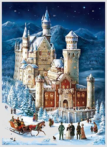 Neuschwanstein Castle in Winter German Advent Calendar | The German Fairy Tale Castle