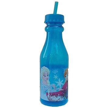 Vidrio congelado ELSA ANNA OLAF DISNEY EN FORMA botella de plástico con paja - 6115400