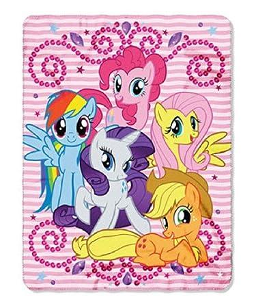 amazon com my little pony sparkle ponies fleece throw blanket 46