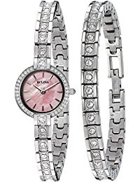 Women's 96X131 Swarovski Crystal Watch and Bracelet Box Set