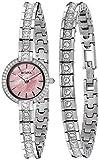 Bulova Women's 96X131 Swarovski Crystal Watch and Bracelet Box Set