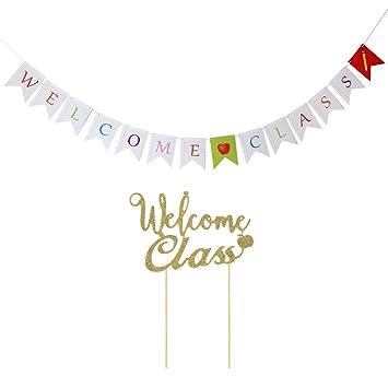 Amosfun Cartel de Bienvenida Clase de Bienvenida Clase de ...