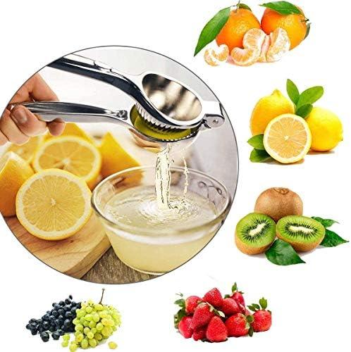 CYQAQ Exprimidor de limón de 2 Piezas Exprimidor de limón Exprimidor de limón Prensa Manual de Acero Inoxidable Manual de Mano Exprimidor de cítricos Exprimidor de Lima