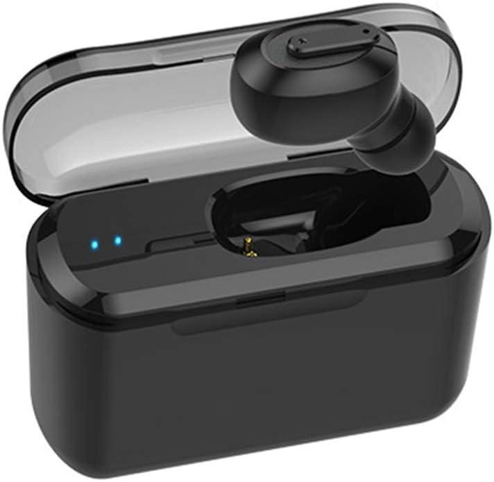 WYKsoku Bluetooth Earphones Headphones, T1 Mini Ear Buds Sports in-Ear Wireless Bluetooth Earphones with Charge Case - Black One