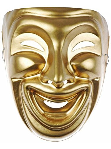 Comedy and Tragedy Masks Costume Accessory]()