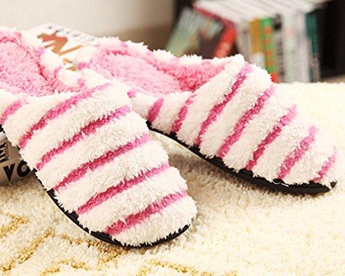 Cattior Womens Inverno Caldo Pelose Pantofole Casa Soffici Pantofole Rosa