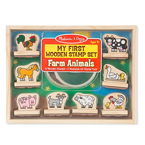 Animal Stamp Set Doug - My First Wooden Stamp Set - Farm Animals