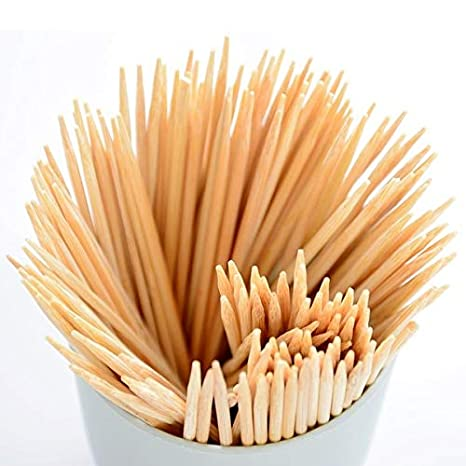 Home REPUBLIC-100pcs / 6 INCH lot Bamboo Skewer Natural Wood Meat Potato Barbecue Skewers Picnic BBQ Accessories Kitchen Tools Camping